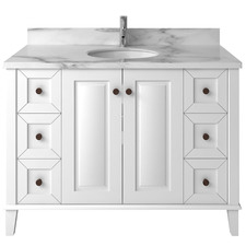 Coventry Marble & Ceramic Vanity with 6 Drawers