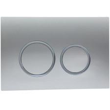 Chrome Round Rushmore Dual Toilet Flush Plate