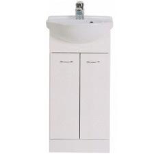 White Roberto Recessed Ceramic Sink & Vanity