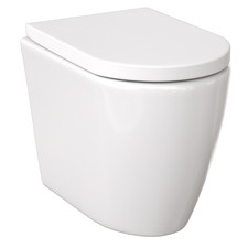 Narva Ceramic Rimless Floor Mounted Toilet Pan with Soft-Close Seat