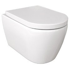 Narva Ceramic Rimless Wall Hung Toilet Pan & Soft-Close Seat