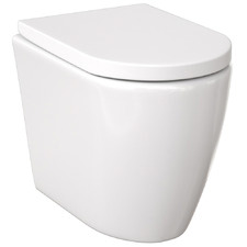 Narva Rimless Floor Mounted Toilet Suite with Flush Plate