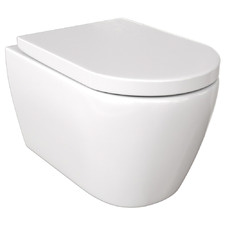 Narva Rimless Wall Mounted Toilet Suite with Flush Plate