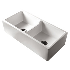 Patri Fireclay Double Bowl Butler Sink