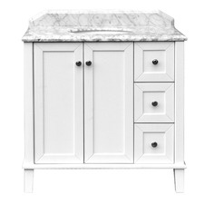 90 x 55cm Coventry Marble Top Vanity Unit