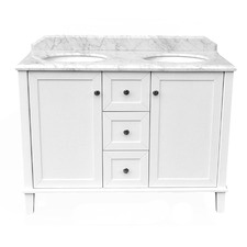 120 x 55cm Coventry Marble Top Double Bowl Vanity Unit