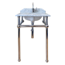 60 x 55cm Mayer Carrara Marble Top Washstand