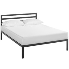 Black Metal Platform Bed
