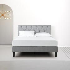 Upholstered Diamond Tufted Platform Bed