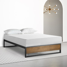 Timber Ironline Platform Bed