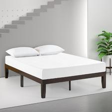 Dark Brown Belvedere Timber Bed Base