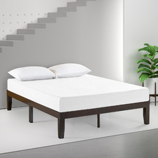 Dark Brown Kaja Timber Bed Frame