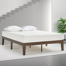 Walnut Kaja Timber Bed Frame