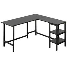 Black Urban L-Shaped Desk