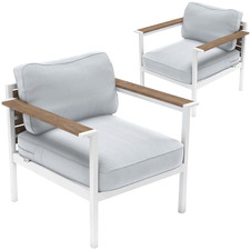 Pablo Steel Outdoor Framed Armchairs (Set of 2)
