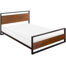 Houston Pine Wood & Metal Bed Frame