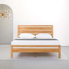 Natural Atanasie Pine Wood Bed