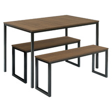 3 Piece Vonda Dining Table & Bench Set