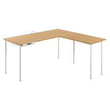 Natural Solomon L-Shaped Desk