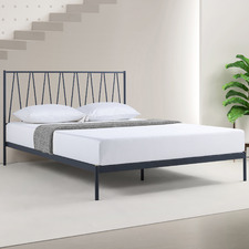 Midnight Grey Bennett Steel Bed