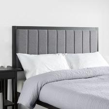 Grey Bendix Upholstered Bedhead