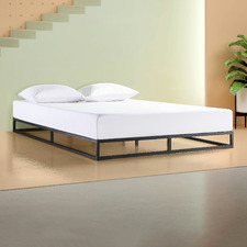 Black Low Rise Pilato Bed Frame