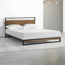 Houston Timber and Metal Platform Bed