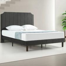 Slate Black Vega Velvet Bed