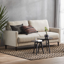 Natural Nerina 3 Seater Upholstered Sofa