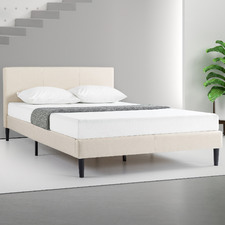 Natural Laybell Upholstered Bed Frame