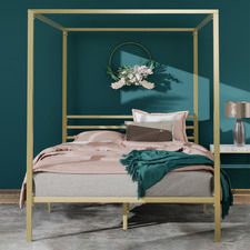 Gold Cytus Steel Canopy Bed Frame