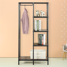 Walter Etagere Shelving Unit with Hanging Rod