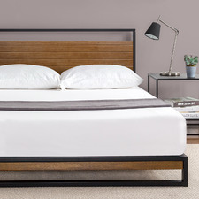 Houston Timber & Metal Platform Bed