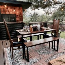 3 Piece Vonda Dining Table & Bench Set