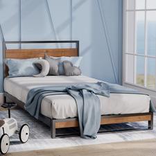 Single Houston Timber & Metal Platform Kid's Bed