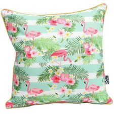 Flamingo Stripe Outdoor Cushion