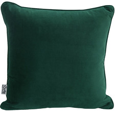 Solid Piped Velvet Cushion
