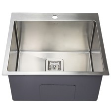 Dante Deep Kitchen Sink Bowl with Tap Hole