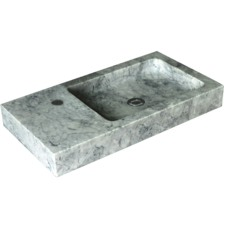 Rectangle Greece Marble Bathroom Basin
