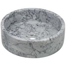 Round Greece Marble Bathroom Basin