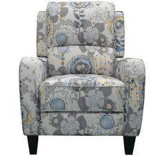 Grey Brenda Floral Recliner Armchair