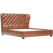 Tan Mayfair Faux Leather Bed Frame