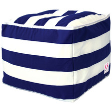 Striped St. Tropez PVC Coated Outdoor Ottoman Cover