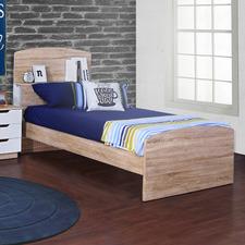 Natural Eco Oak Wood Single Bed Frame