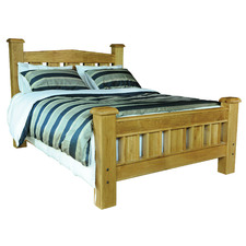 Danube Queen Bed in Distressed Natural Dusk