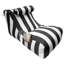 Striped Harper Single Beanbag Cover with Pillow