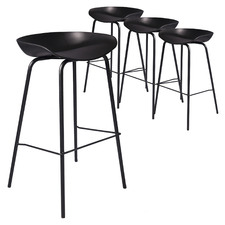76cm Black Prescott Barstools (Set of 4)