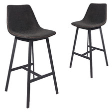 76cm Kiefer Faux Leather Barstools (Set of 2)