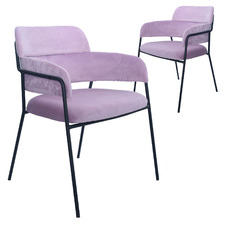 Tatyana Velvet Dining Chairs (Set of 2)