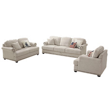 3 Piece Kentucky Upholstered Sofa Set